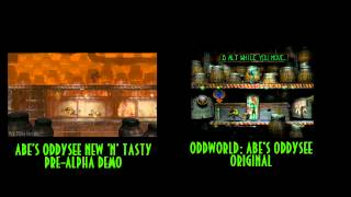 oddworld new n tasty vs original side by side comparison pre alpha