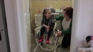 The Flamingo High Low Toilet and Bathing Chair - Positioning Over a Toilet by R82 UK