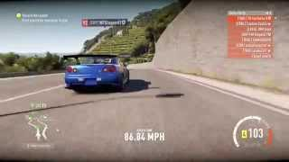 "Forza Horizon 2 - Touge Section #8 ""Tail Of The Dragon"" - NFSLegend(R34 GT-R) Vs Tyseitz(AE86 Trueno"