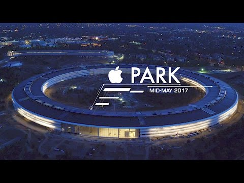 APPLE PARK: Mid-May 2017 -- Sunset Flight