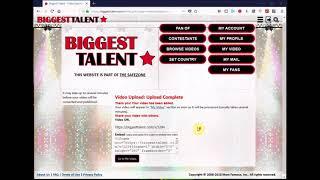 Biggest Talent – Complete Profile & Uploading Video (Tutorial)