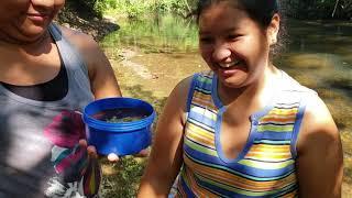 Ahora Si A Comer Los  Ricos Huevitos entomatados Rodeados De La Naturaleza Convivio en el rio pt 4