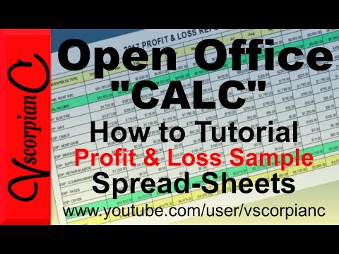 OpenOffice Calc Tutorial - How To Create A Profit & Loss Sheet With Formulas By VscorpianC
