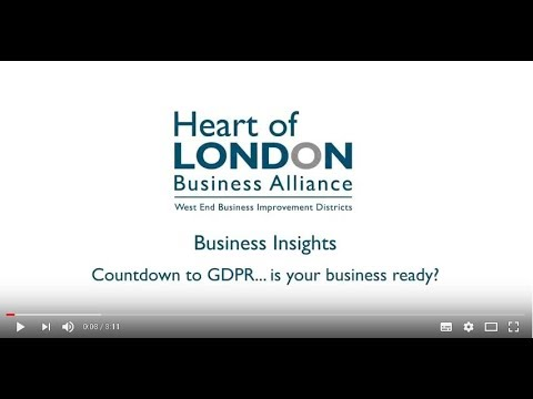 Business Insights: GDPR Event Highlights - Heart of London Business Alliance