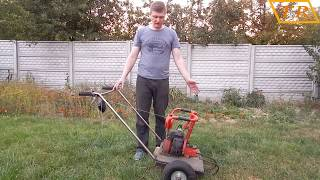 видео Газонокосилка из бензопилы