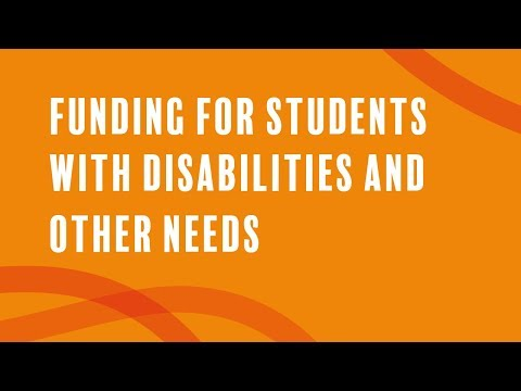 Funding For Students With Disabilities And Other Needs 2019/20