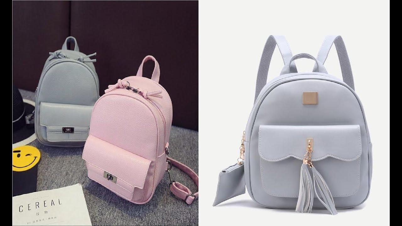 34a205adabf7f أجمل موديلات شنط مدرسية للبنات School Bags 2019 - YouTube