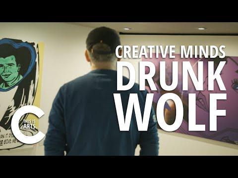 DRUNK WOLF   CREATIVE MINDS   CANVAS