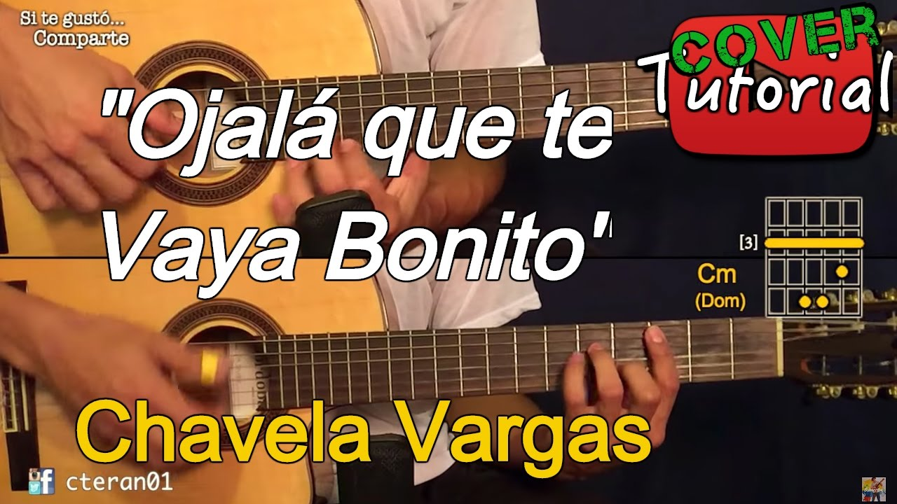 Ojalá Que Te Vaya Bonito Instrumental Cover Tutorial Guitarra Youtube