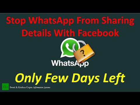 How to Stop WhatsApp From Sharing Details With Facebook (Only 30 Days Left)