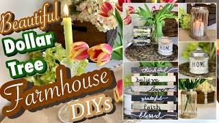 Dollar Tree Farmhouse Inspired DIYS | Candle, Vase, Decor