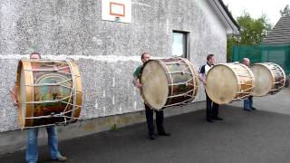 Lambeg drums 11th July 2011 Chichester - Taylorstown. County Antrim.