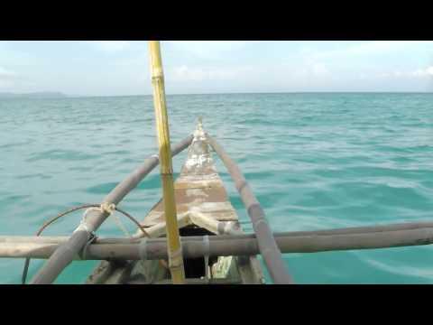 cebu a ride on a native local bam boat