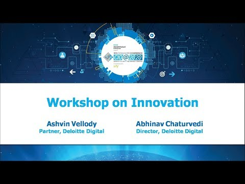 Innovation Workshop by Ashvin Vellody & Abhinav Chaturvedi