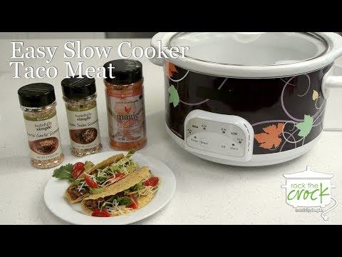 Easy Slow Cooker Taco Meat