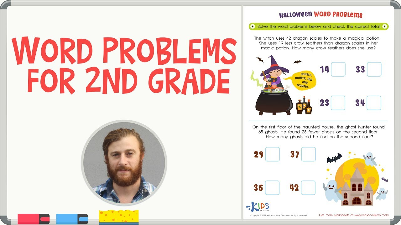 hight resolution of Word Problems   Subtraction   Math for 2nd Grade - YouTube