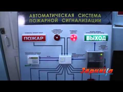 Стенд автоматическая система пожарной сигнализации