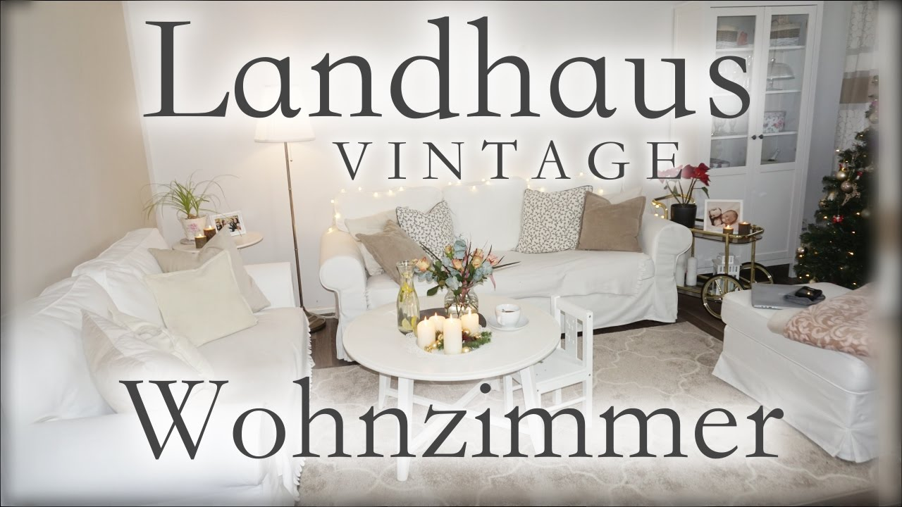 Wohnzimmer roomtour vintage landhausstil ikea youtube for Sofa landhausstil