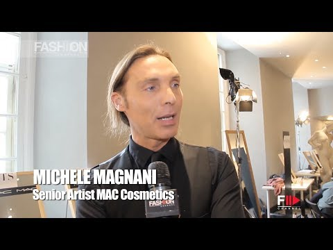 MICHELE MAGNANI Senior Artist MAC Cosmetics @ PORTS 1961 Men Fashion Show AW2014 by Fashion Channel