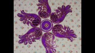 Rearrangeable rangoli at home/DIY simple rangoli/Easy and simple peacock Rangoli/Rangoli/DIY Rangoli