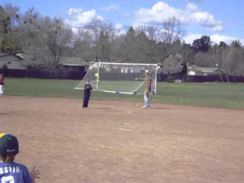 T-Ball at Strandwood Elementary School with Bayley