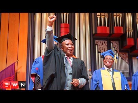 Julius Malema graduates from Unisa