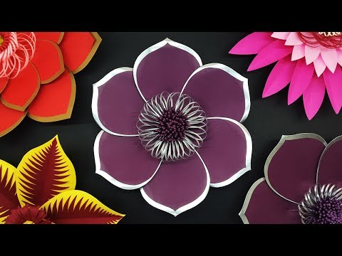 How to Make Beautiful Paper Flower for Wedding Backdrop | DIY Giant Flowers