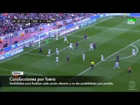 El Málaga de Javi Gracia en el Camp Nou
