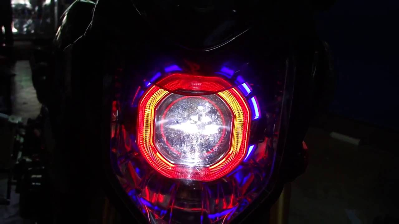 For Honda Grom MSX125 TDM Projector Headlight Lamp with Blue Ring msx 125