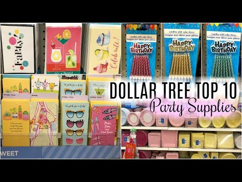 DOLLAR TREE TOP 10 ITEMS FOR PARTY SUPPLIES