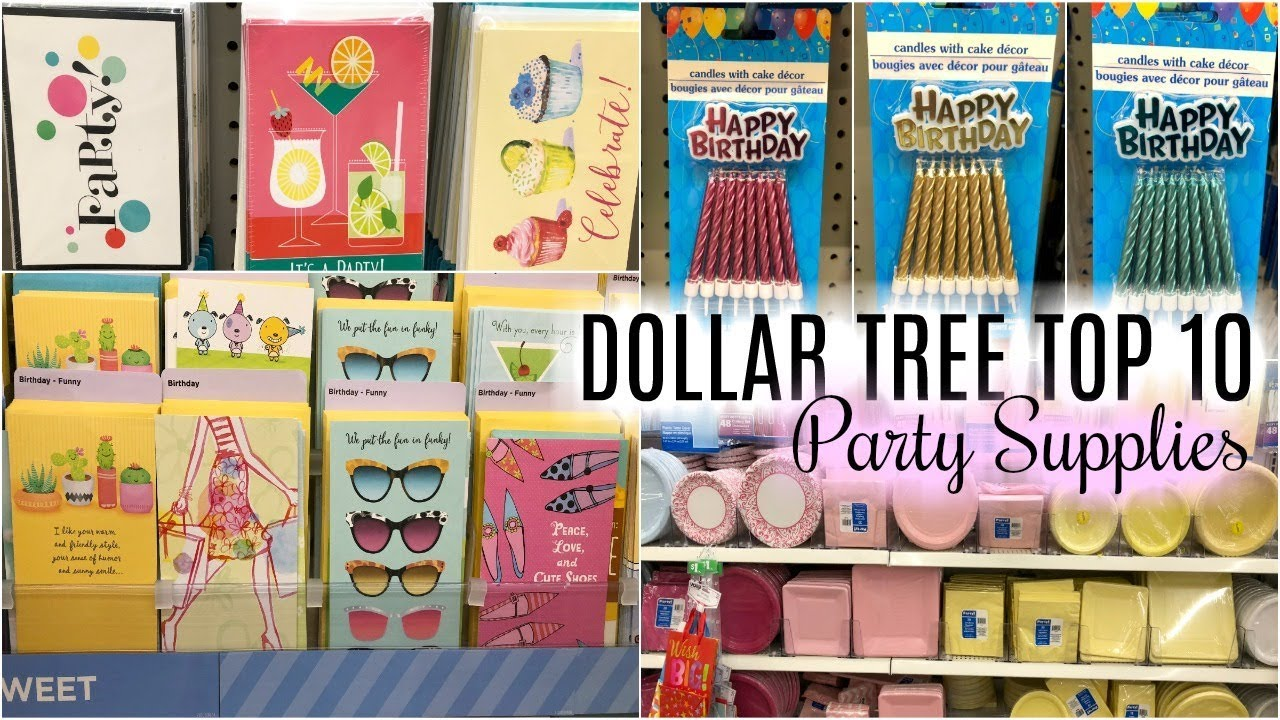 DOLLAR TREE TOP 10 ITEMS FOR PARTY SUPPLIES - YouTube