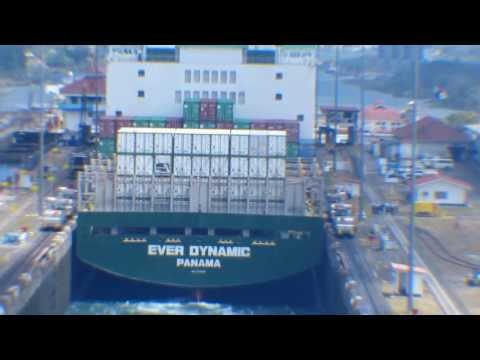 Panama Canal - Ever Dynamic - Eastern Passage thru Gatun Locks