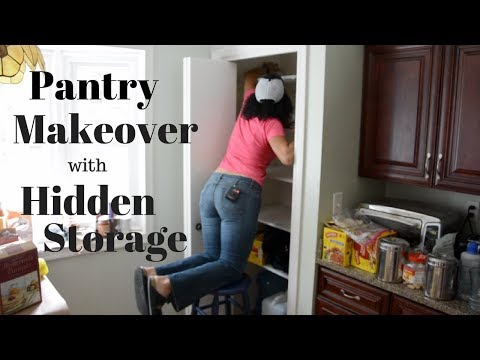Pantry Makeover With Hidden Storage Inside of the Can Food Organizer: DIY Tutorial - Thrift Diving