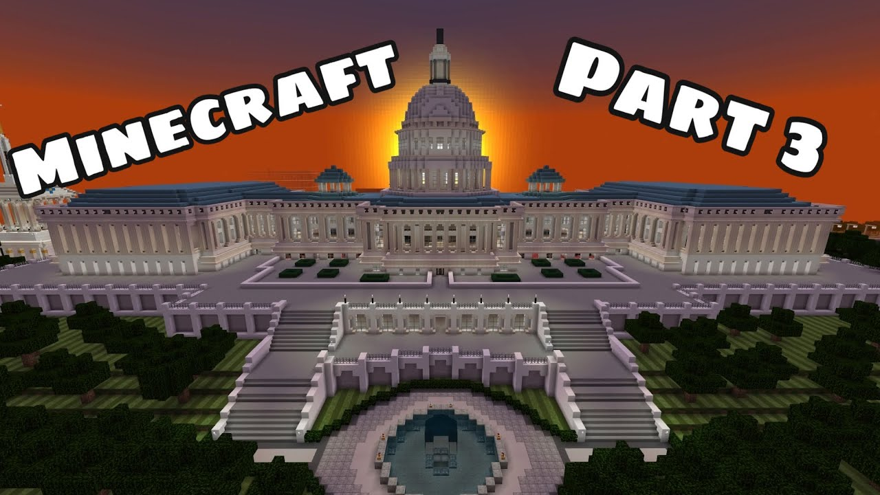 Minecraft: How to build the Capitol Building (PART 3)