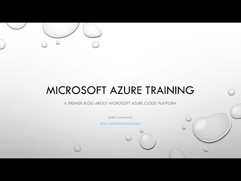 Microsoft Azure Training 70-535 - [2]  Availability Sets