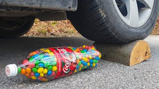 Crushing Crunchy & Soft Things by Car! EXPERIMENT CAR vs COCA COLA M&M