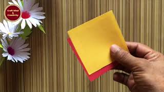 DIY gift box making | gift box | surprise box making with paper | handmade box | fun box gift