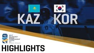 Kazakhstan - Korea | Highlights | 2017 IIHF Ice Hockey World Championship Division | Group A