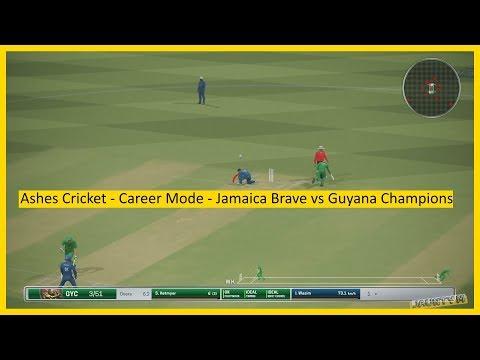Ashes Cricket - Career Mode - Jamaica Brave vs Guyana Champions