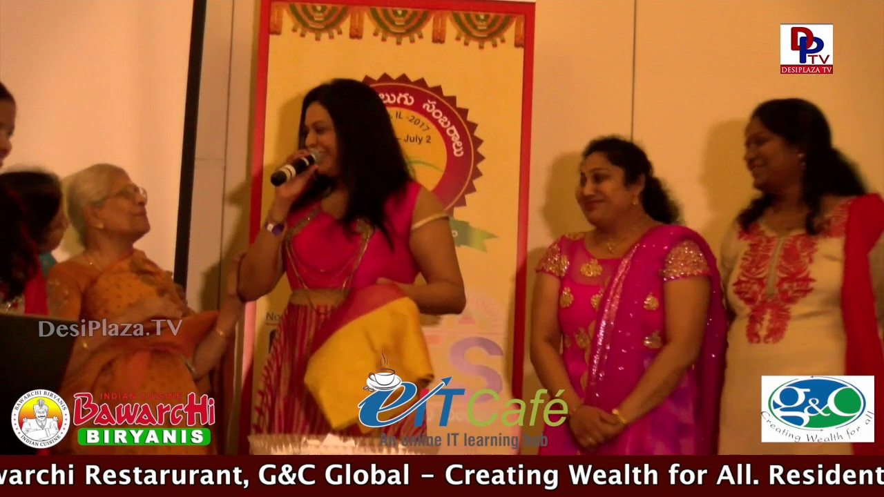 Ladies playing Bidding game for Sarees  @ NATS Conference - Chicago