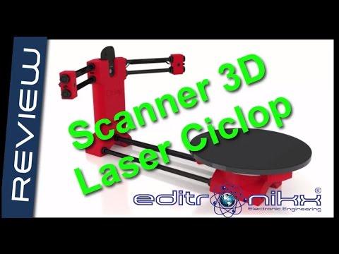 como armar  scanner laser 3D ciclop con arduino | editronikx
