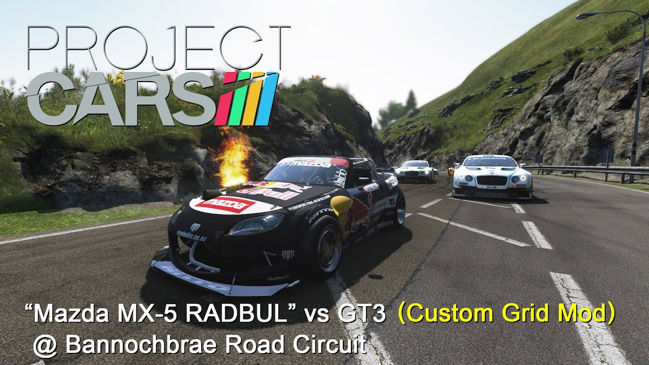 project cars custom grid mod mazda mx 5 radbul vs gt3 bannochbrae day to night youtube. Black Bedroom Furniture Sets. Home Design Ideas