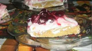 Homemade, No Bake, Cherry Cheesecake, čizkejk Sa Višnjama
