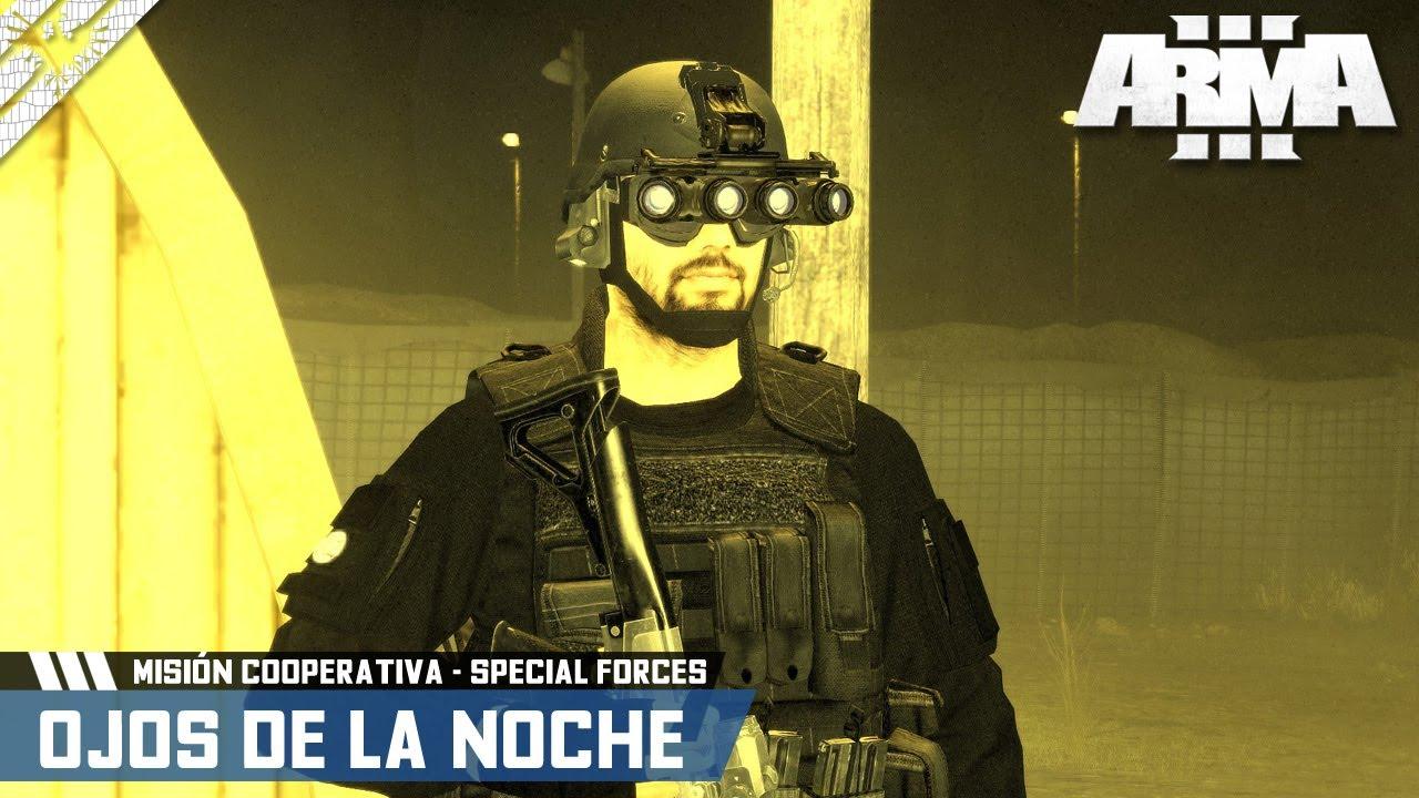 MISIÓN COOPERATIVA | OJOS DE LA NOCHE | ArmA 3 Gameplay Español (1440p HD) #ArmA3