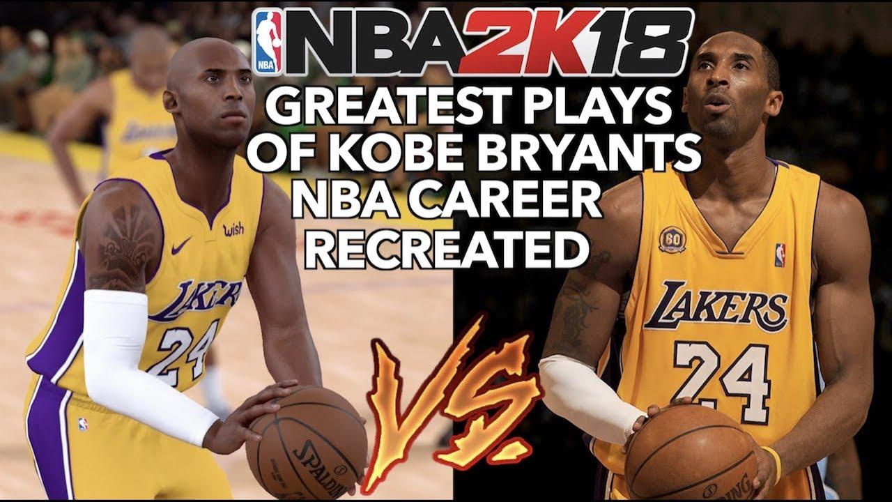 innovative design e82ec f9423 GREATEST PLAYS OF KOBE BRYANT S NBA CAREER RECREATED IN NBA 2K
