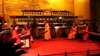 Qing Dynasty Period Song Played By Chinese Musicians At Xian Bell Tower