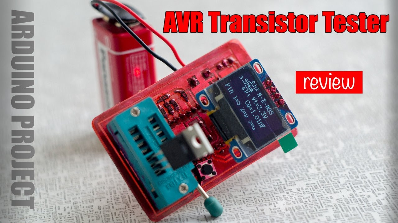 Avr transistortester based on arduino pro mini and