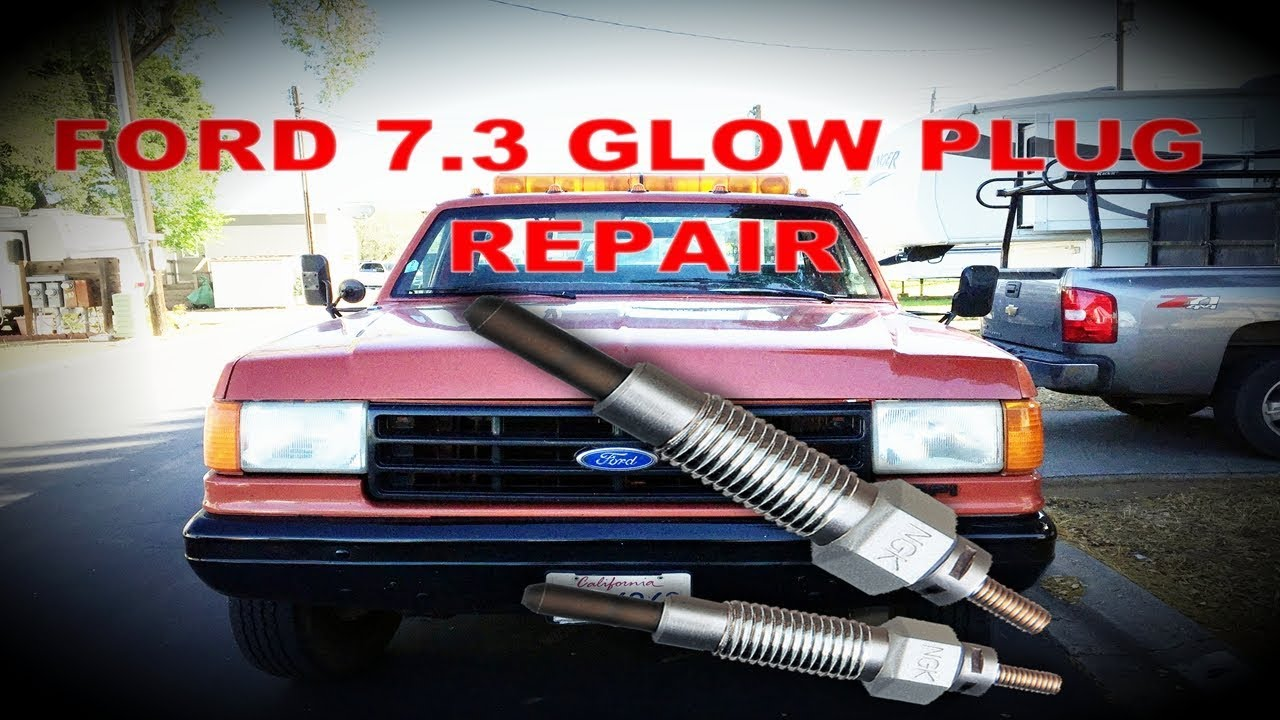 hight resolution of this is how i fixed my 1990 ford f superduty 7 3 diesel glow plug wire connector repair