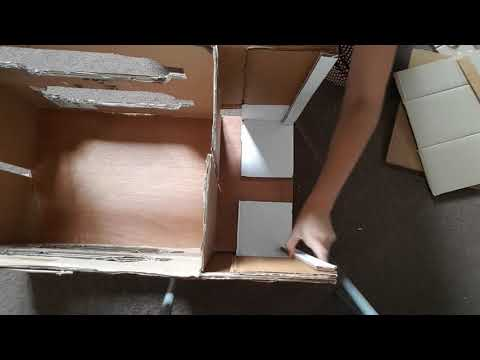 Mandir/ temple made out of cardboard DIY