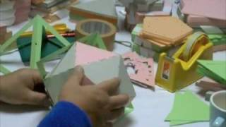 正20面体in正8面体 3(Polyhedron Card)